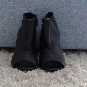 Mix No. 6 Open Toe Black Ankle Boots